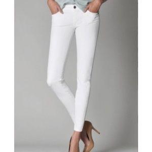 Fidelity White Denim Stretch Jeans 26